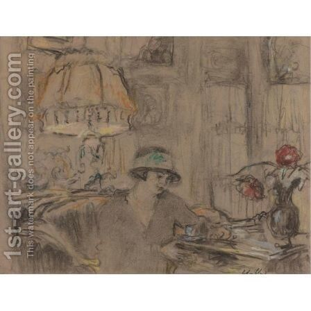 Fridette Faton A Table by Edouard  (Jean-Edouard) Vuillard - Reproduction Oil Painting