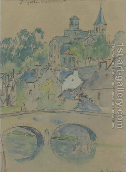 St. Vorle, Chatillon Sur Seine by Camille Pissarro - Reproduction Oil Painting