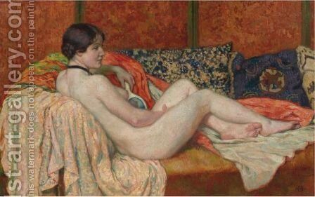 Modele Au Repos, Maud by Theo van Rysselberghe - Reproduction Oil Painting