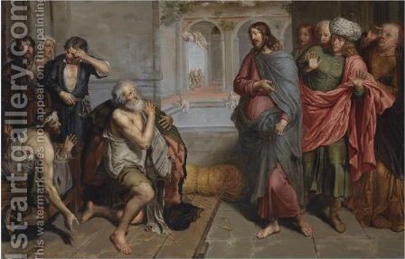 Christ Healing The Sick At Bethesda by (after) Pieter Van Lint - Reproduction Oil Painting