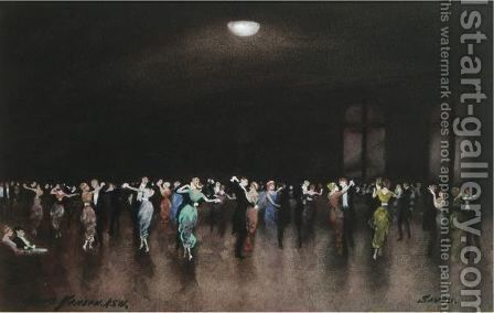 Ballroom Dancing At The Savoy, London by Hans Jacob Hansen - Reproduction Oil Painting
