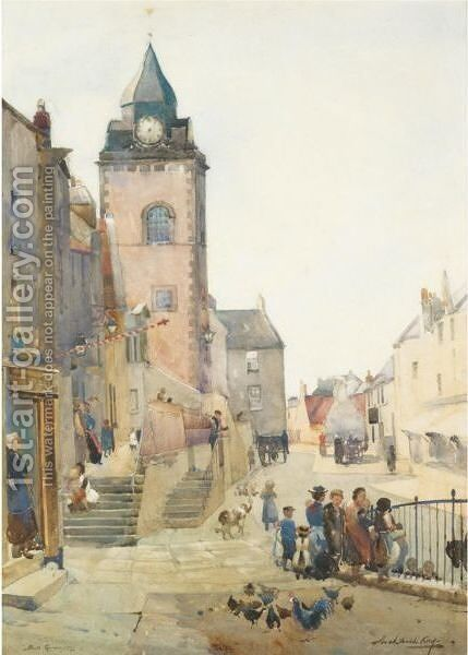 South Queensferry by Archibald Kay - Reproduction Oil Painting