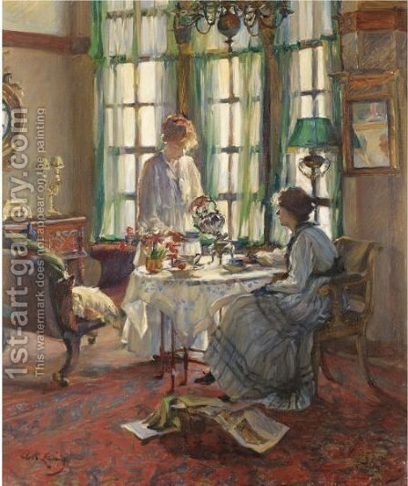 A Helensburgh Breakfast by Annie Rose Laing - Reproduction Oil Painting