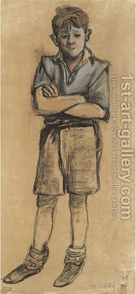 A Glasgow Boy by Joan Eardley - Reproduction Oil Painting