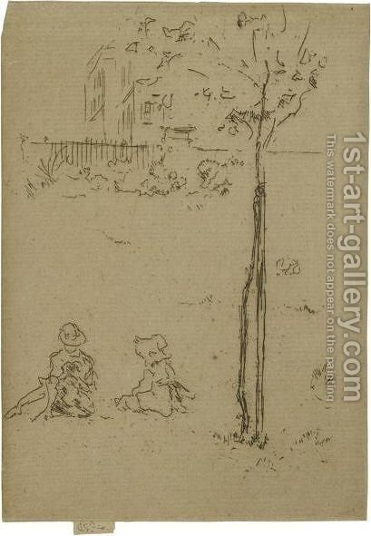 The Young Tree by James Abbott McNeill Whistler - Reproduction Oil Painting