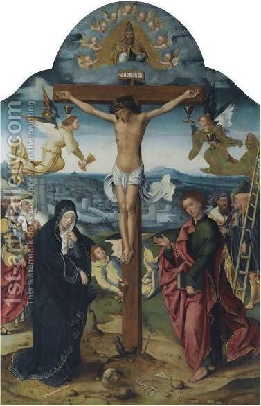 The Crucifixion by Antwerp School - Reproduction Oil Painting