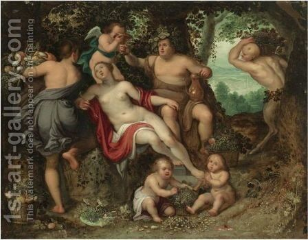 Sine Baccho Et Cerere Friget Venus by Belgian Unknown Masters - Reproduction Oil Painting