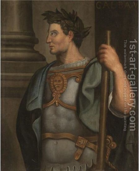 Portrait Of The Emperor Galba, Half-Length Standing In Profile, Wearing A Laurel Wreath by (after) Bernardino Campi - Reproduction Oil Painting