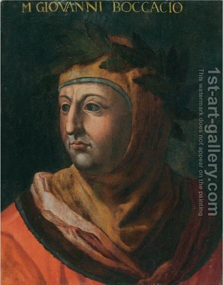 Portrait Of The Author And Poet Giovanni Boccaccio (Circa 1313-1375) by (after) Cristofano Dell'Altissimo - Reproduction Oil Painting