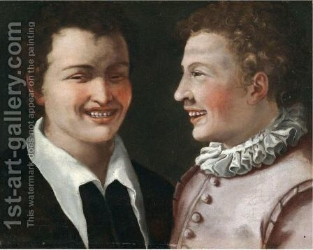 Two Boys Laughing by Annibale Carracci - Reproduction Oil Painting