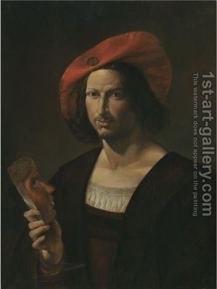 Portrait Of A Young Man by (after) Pietro Paolini - Reproduction Oil Painting