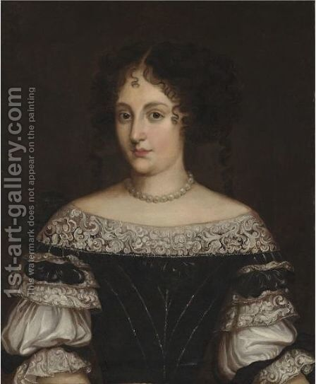 Portrait Of A Lady 2 by (after) Jacob Ferdinand Voet - Reproduction Oil Painting