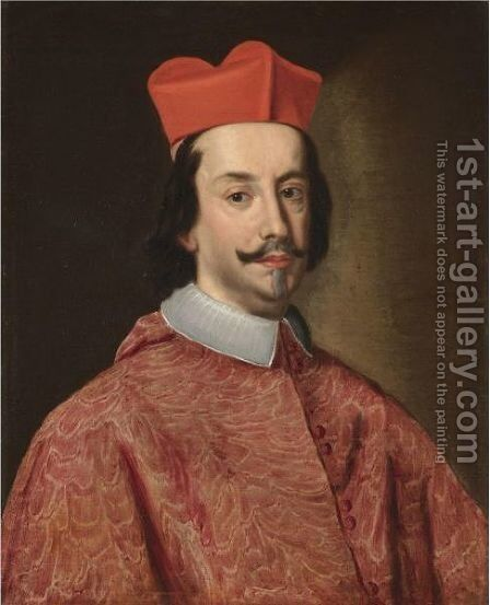 Portrait Of Cardinal Federico II Borromeo, Head And Shoulders by (after) Jacob Ferdinand Voet - Reproduction Oil Painting