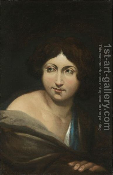Portrait Of A Young Man, Half Length by (after) Michelangelo Merisi Da Caravaggio - Reproduction Oil Painting