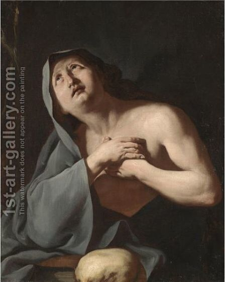 The Penitent Magdalen 2 by Neapolitan School - Reproduction Oil Painting