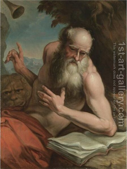 Saint Jerome 3 by Italian School - Reproduction Oil Painting