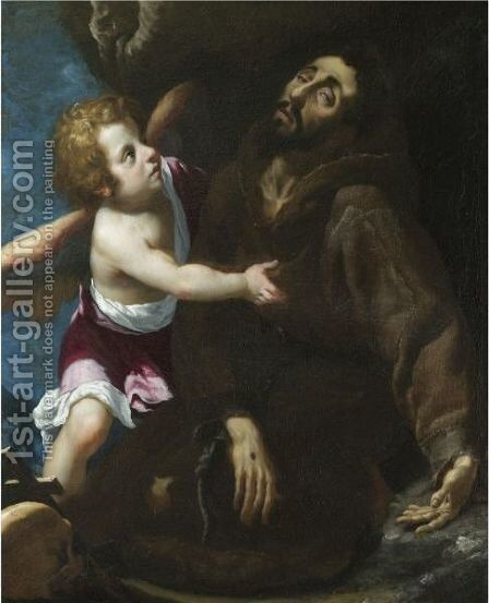 The Stigmatisation Of Saint Francis by (after) Giovanni Bilivert - Reproduction Oil Painting