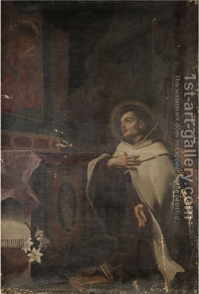 The Vision Of Saint Anthony Of Padua by (after) Giovanni Francesco Guercino (BARBIERI) - Reproduction Oil Painting