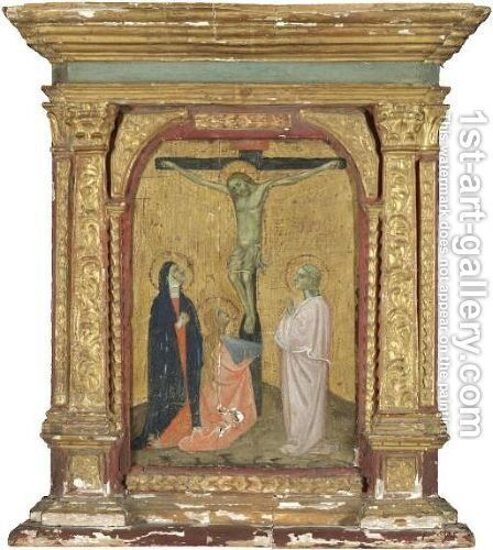 The Crucifixion by (after) Duccio Di Buoninsegna - Reproduction Oil Painting