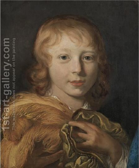 Portrait Of William II Of Orange-Nassau (1626-1650) As A Child by (after) Jacob Van Loo - Reproduction Oil Painting
