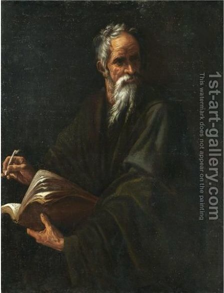 An Evangelist by Spanish School - Reproduction Oil Painting