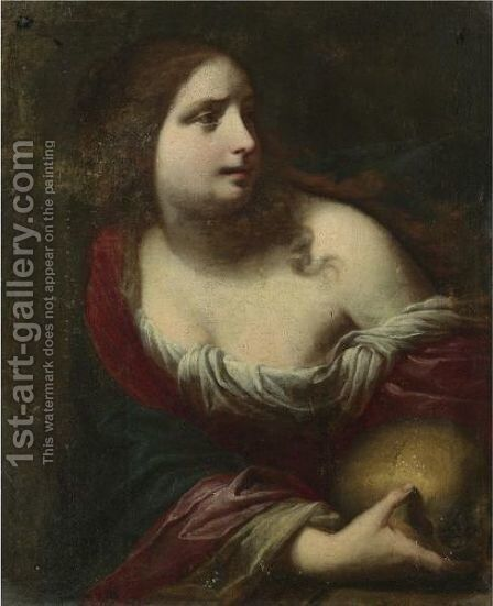 Mary Magdalene by Simone Pignoni - Reproduction Oil Painting