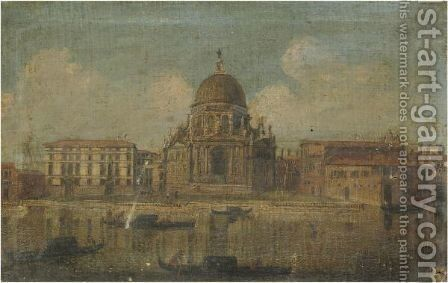 Venice, A View Of Santa Maria Della Salute by (after) Michele Marieschi - Reproduction Oil Painting