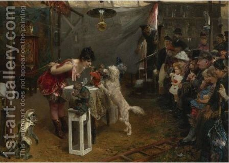Sideshow Tricks 2 by Paul Friedrich Meyerheim - Reproduction Oil Painting
