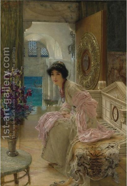 Watching And Waiting by Sir Lawrence Alma-Tadema - Reproduction Oil Painting