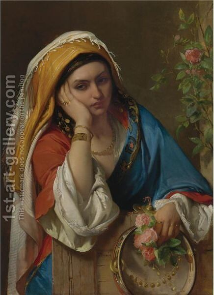 Reverie by Jean-Francois Portaels - Reproduction Oil Painting