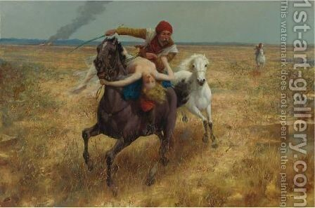 The Abduction by Eduard Ansen Hoffmann - Reproduction Oil Painting