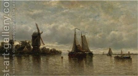 Temps Argente The Mouth Of The Rupel, Flanders by Auguste Henri Musin - Reproduction Oil Painting