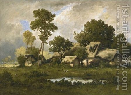 The Farm by Leon Richet - Reproduction Oil Painting