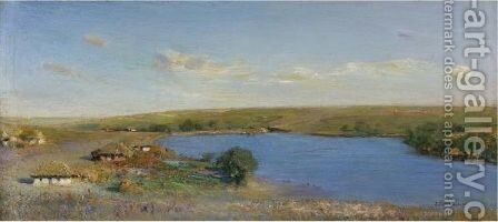 Our Pond In Motrenovka, 1923 by Ivan Pavlovich Pokhitonov - Reproduction Oil Painting