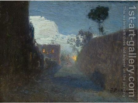 Moonlit Passage In Jupille, 1911 by Ivan Pavlovich Pokhitonov - Reproduction Oil Painting
