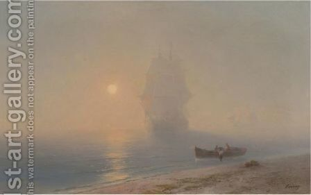 Sailing Through The Haze by Ivan Konstantinovich Aivazovsky - Reproduction Oil Painting