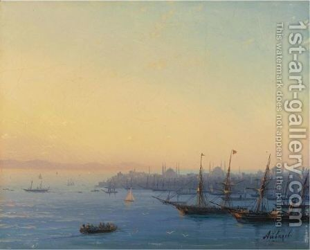 Sunset Over Constantinople by Ivan Konstantinovich Aivazovsky - Reproduction Oil Painting
