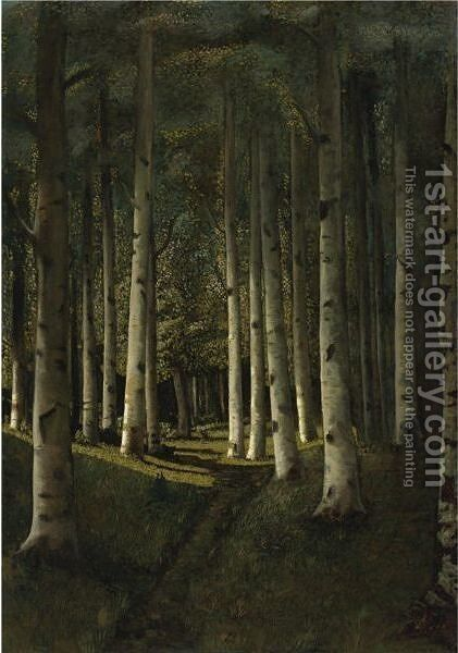 Birch Grove, 1881 by Arkhip Ivanovich Kuindzhi - Reproduction Oil Painting