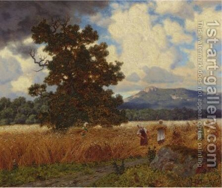 The Harvest, 1924 by Ivan Fedorovich Choultse - Reproduction Oil Painting