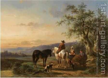 A Moment Of Rest 3 by Wouterus Verschuur - Reproduction Oil Painting