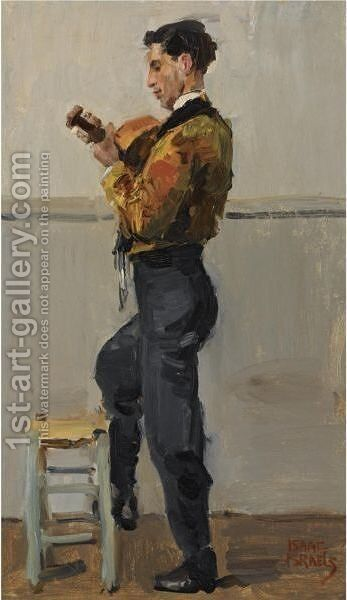 The Guitar Player by Isaac Israels - Reproduction Oil Painting