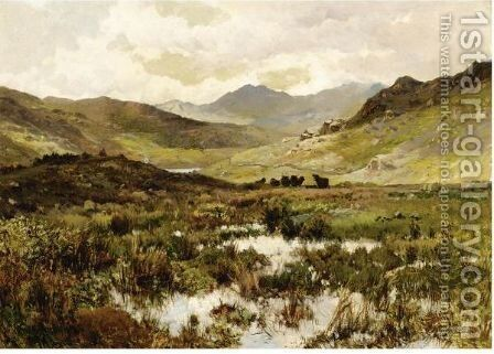 Snowdon From Capel Curig by Alfred de Breanski - Reproduction Oil Painting
