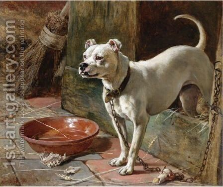 On Guard by Edward Robert Physick - Reproduction Oil Painting