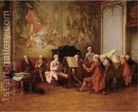 The Musicians by Benjamin Eugene Fichel - Reproduction Oil Painting