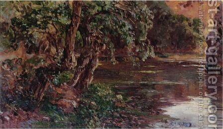 Beside The River by Antonio Munoz Degrain - Reproduction Oil Painting