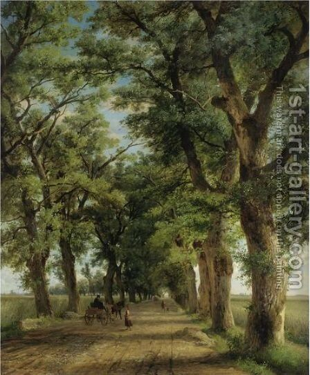 Allee Bei Munchen by Eduard Heinel - Reproduction Oil Painting