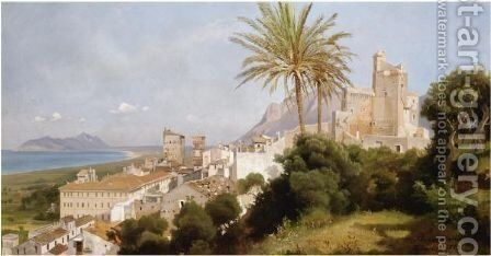 Terracina by Edmund Friedrich Kanoldt - Reproduction Oil Painting