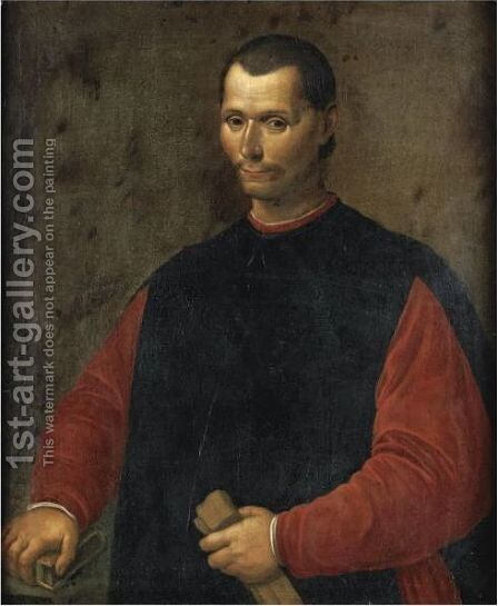 Portait Of Niccolo Macchiavelli (1469-1527) by (after) Santi Di Tito - Reproduction Oil Painting