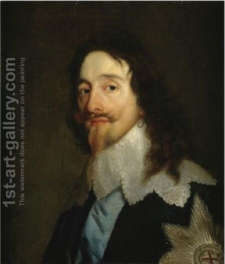 Portrait Of King Charles I Of England (1601-1649) by (after) Dyck, Sir Anthony van - Reproduction Oil Painting