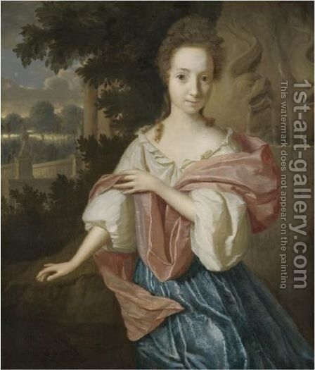 Portrait Of A Lady by (after) Godfried Schalcken - Reproduction Oil Painting